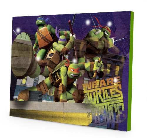 Nickelodeon Tmnt Table Lamp With Die Cut Lamp Shade With