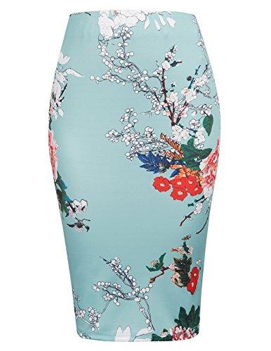 b7e6d0a7e2 Kate Kasin Women's High Waist Bodycon Career Office Midi Pencil Skirt  KK000837