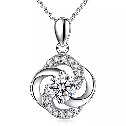 ba76daae817a3 J.Rosée The Eye of Lover White Sterling Silver Twist Pendant ...