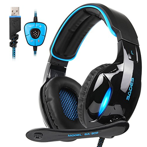 PC MAC Gaming Headset ,SADES 902 7 1 Surround Sound PC